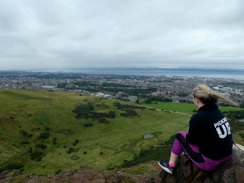 Climbing Arthur's Seat in Edinburgh.
